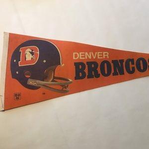 Vintage 70s Denver Broncos Pennant 🚩